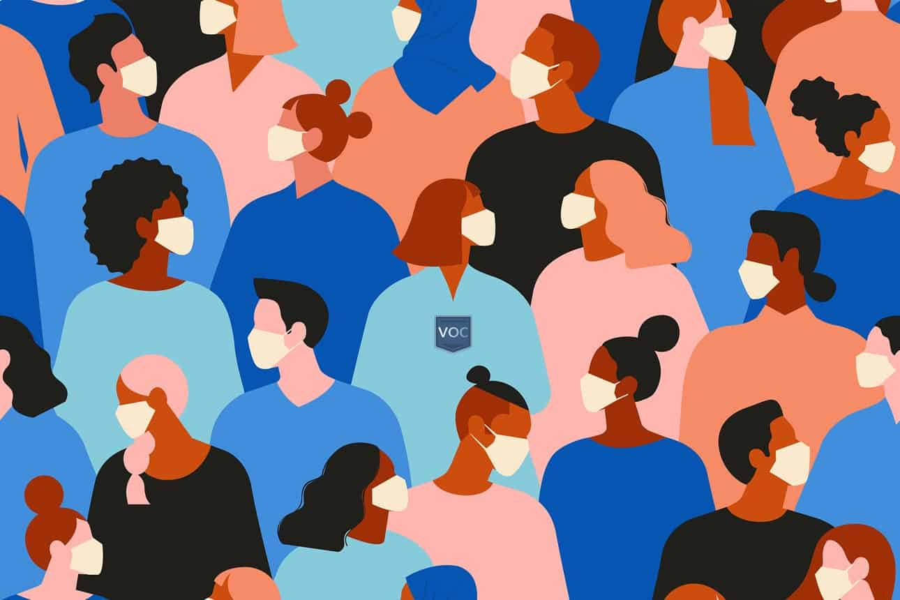 vector-art-graphic-of-multiple-people-of-many-races-all-wearing-protective-masks-due-to-coronavirus-pandemic-by-voc